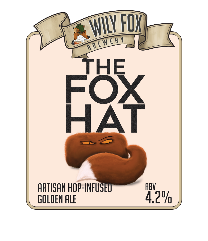 Fox Hat Artsion and hop infused golden ale by the Wily fox brewery