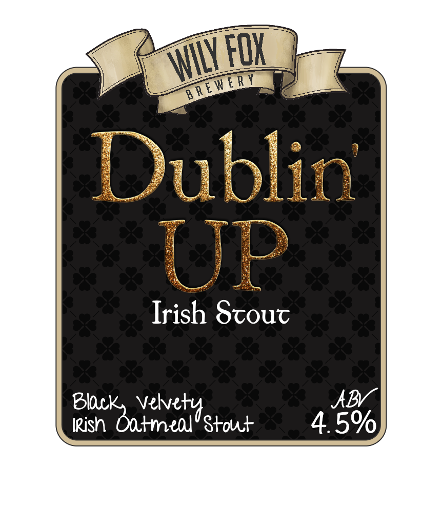 Dublin up irish stout pump clip