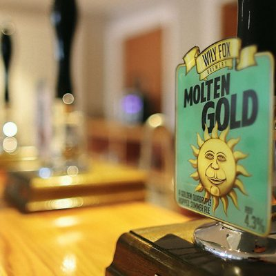 Molten Gold Hoppy Golden Ale by The Wily Fox Brewery in Wigan