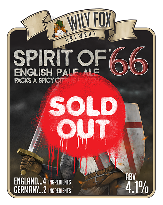 Spirit of 66' English Pale Ale by The Wily Fox Brewery