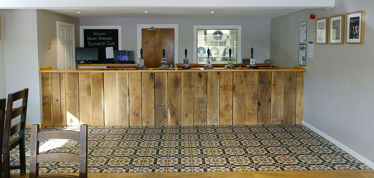 The Wily Fox Brewery purpose made rustic bar