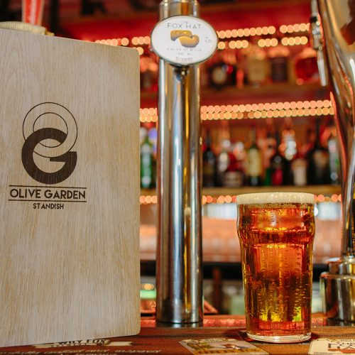 olive garden restaurant now supplied the fox hat golden ale from wily fox brewery in wigan