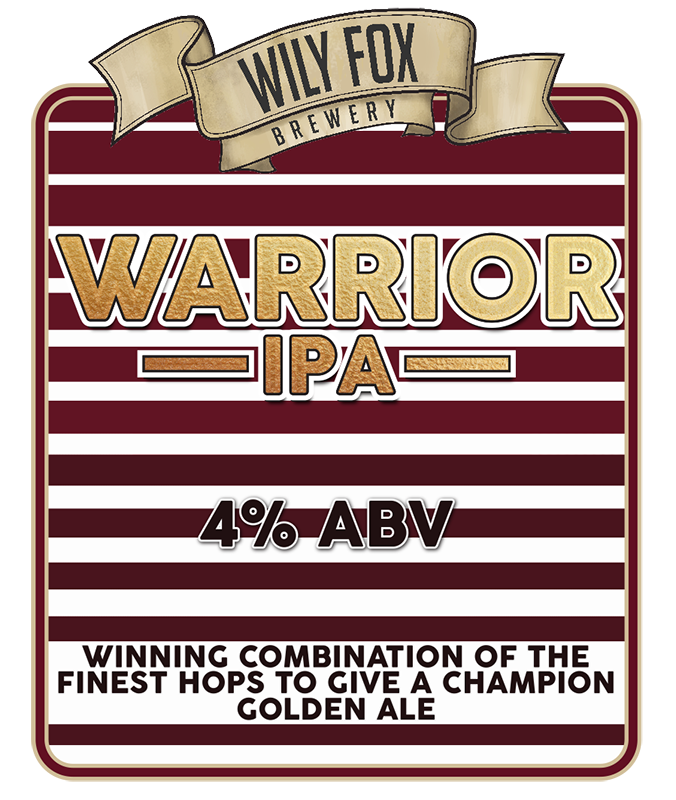 Warrior IPA pump clip design by embee photography
