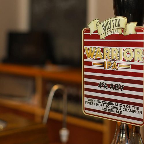Wigan Warrior IPA ready to serve on a bar