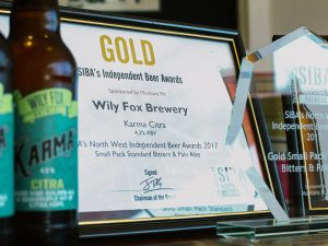 wily fox brewery win a gold Siba beer award