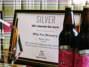 wily fox wins a silver siba beer award