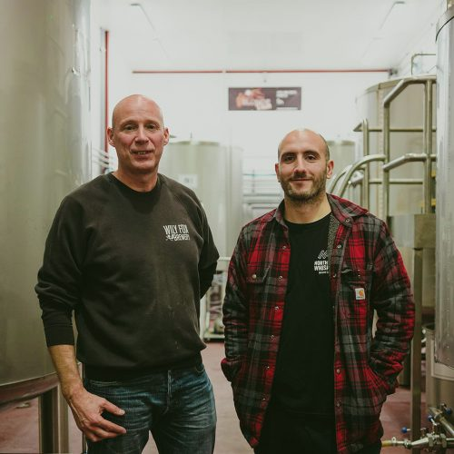 head brewers from wily fox brewery and northern whisper brewery posing for photo